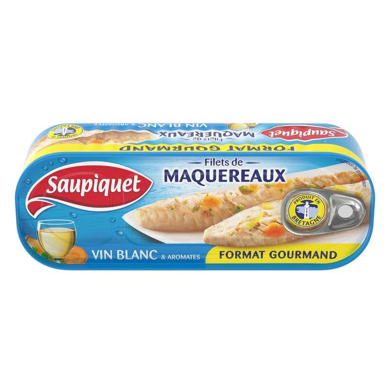 Filets de maquereaux au vin blanc, Saupiquet (235 g)