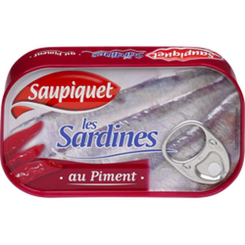 Sardines au piment, Saupiquet (120 g)