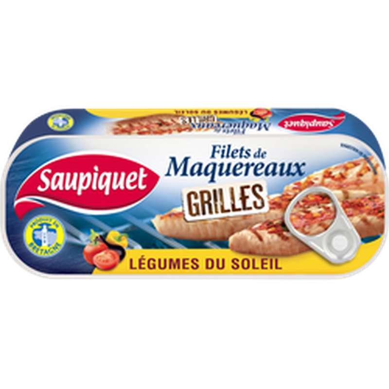 Filets de maquereaux grillés aux légumes du soleil, Saupiquet (120 g)