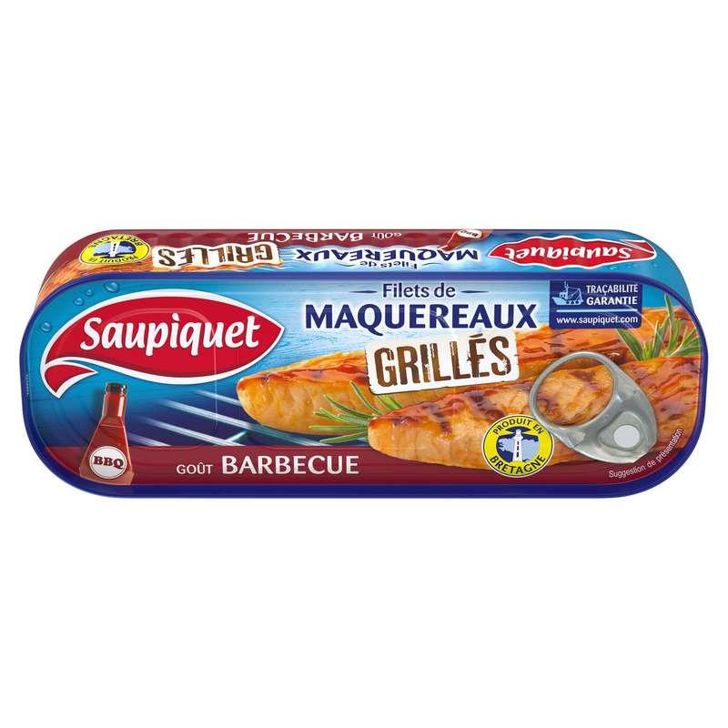 Filets de maquereaux grillés sauce barbecue, Saupiquet (120 g)