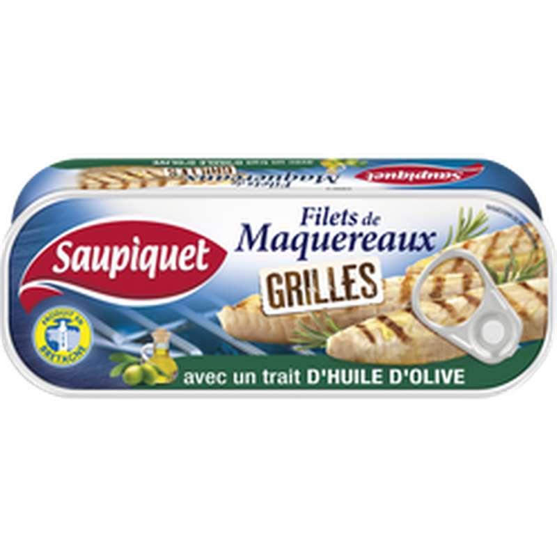 Filets de maquereaux grillés trait d'huile d'olive, Saupiquet (120 g)