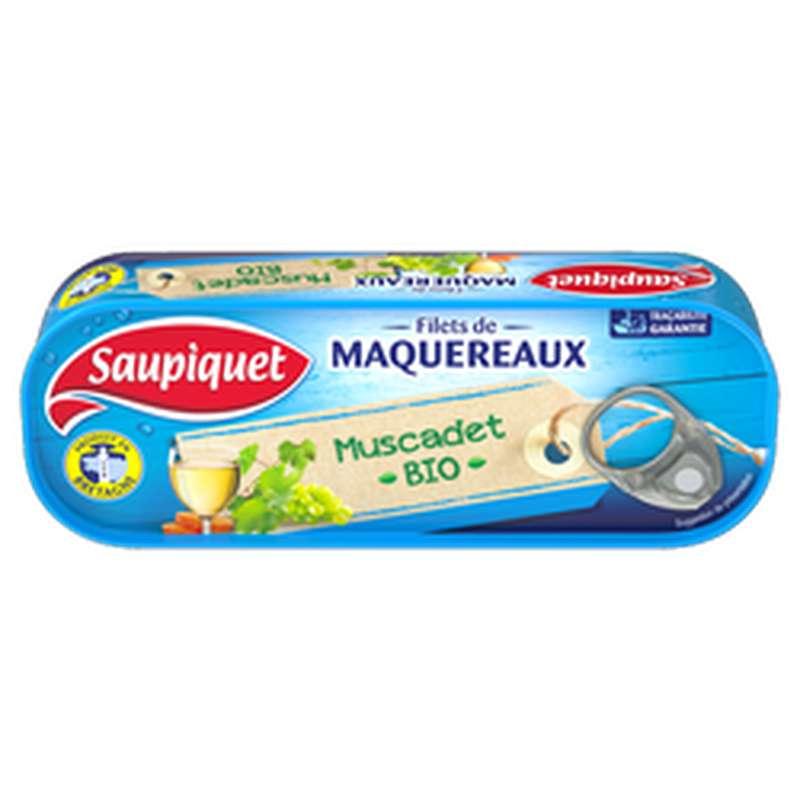 Filets de Maquereaux au Muscadet BIO, Saupiquet (120 g)
