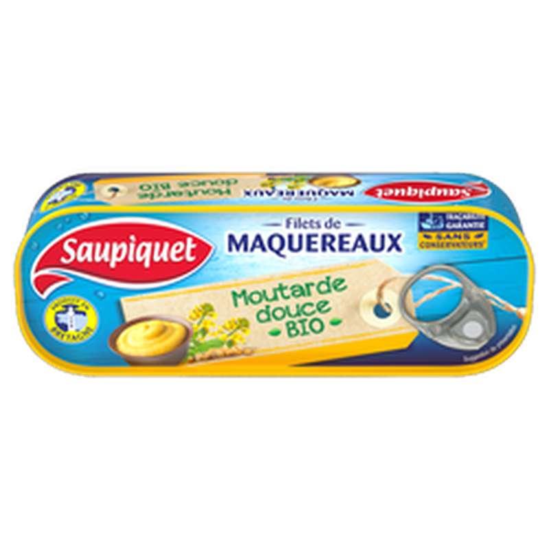 Filets de Maquereaux à la moutarde douce BIO, Saupiquet (120 g)