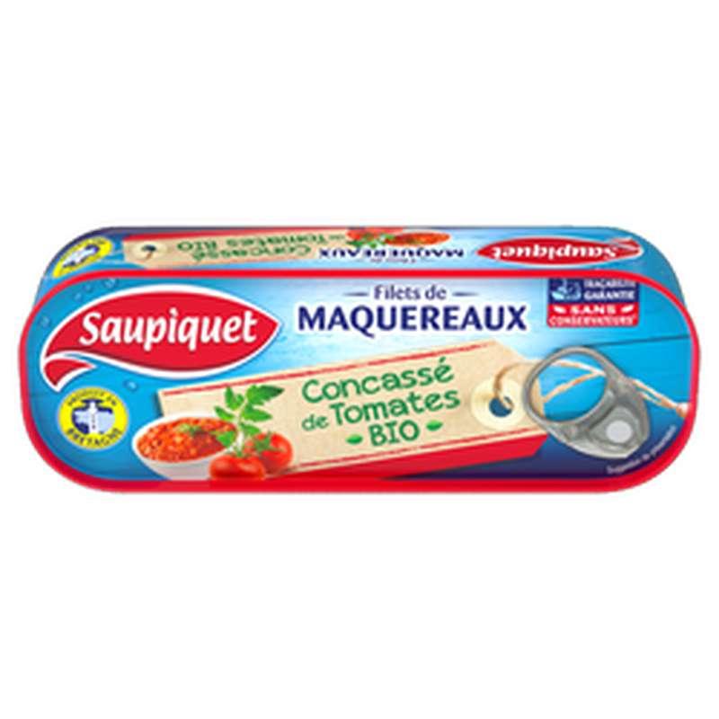 Filets de Maquereaux à la tomate BIO, Saupiquet (120 g)