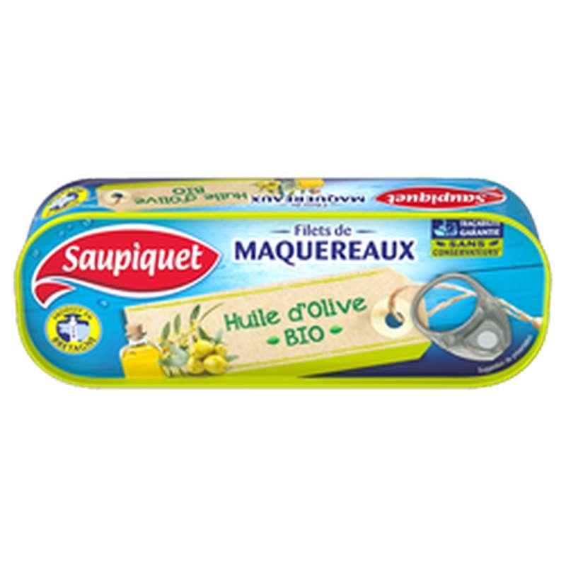 Filets de Maquereaux à l'huile d'olive BIO, Saupiquet (120 g)