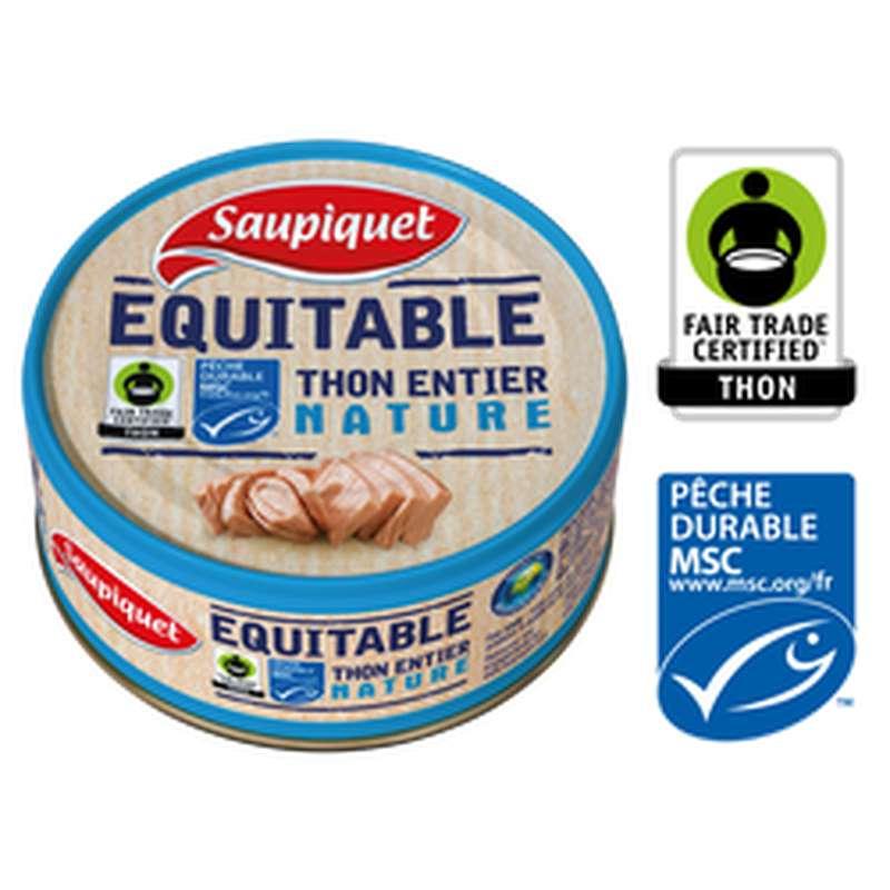 Thon entier MSC équitable nature, Saupiquet (112 g)