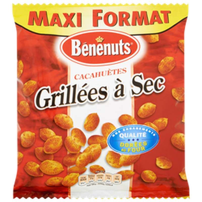 Cacahuètes grillées à sec maxi format, Benenuts (320 g)