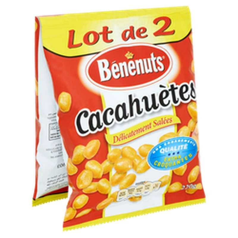 Cacahuètes grillées salées, Benenuts LOT DE 2 (2 x 220 g)
