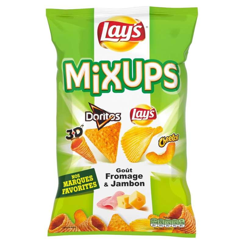 Biscuits apéritifs MixUps goût fromage & jambon, Benenuts (110 g)