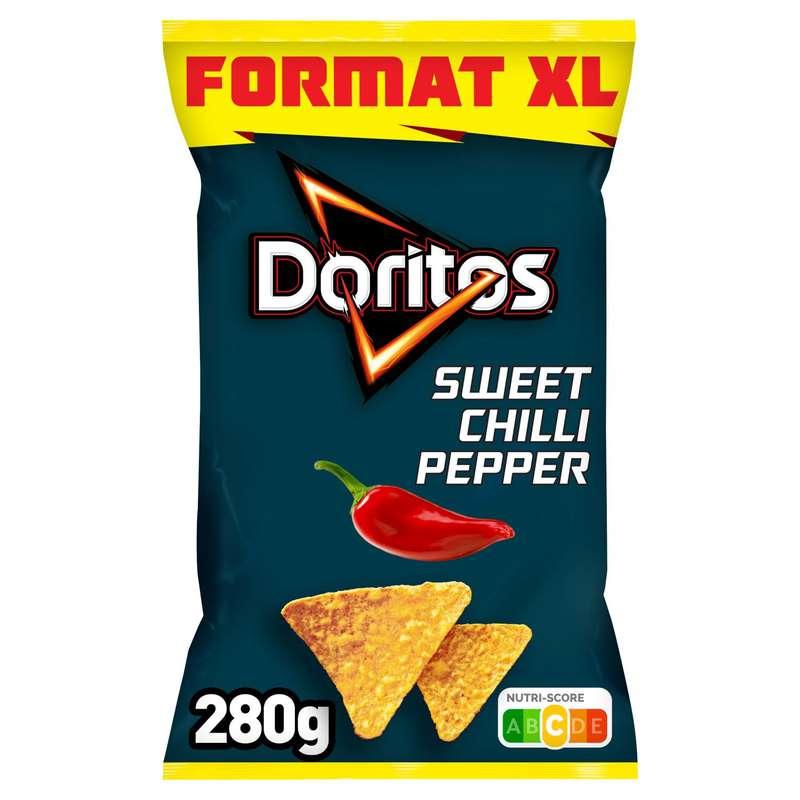 Tortilla goût sweet chili pepper, Doritos (170 g + 10% OFFERT)