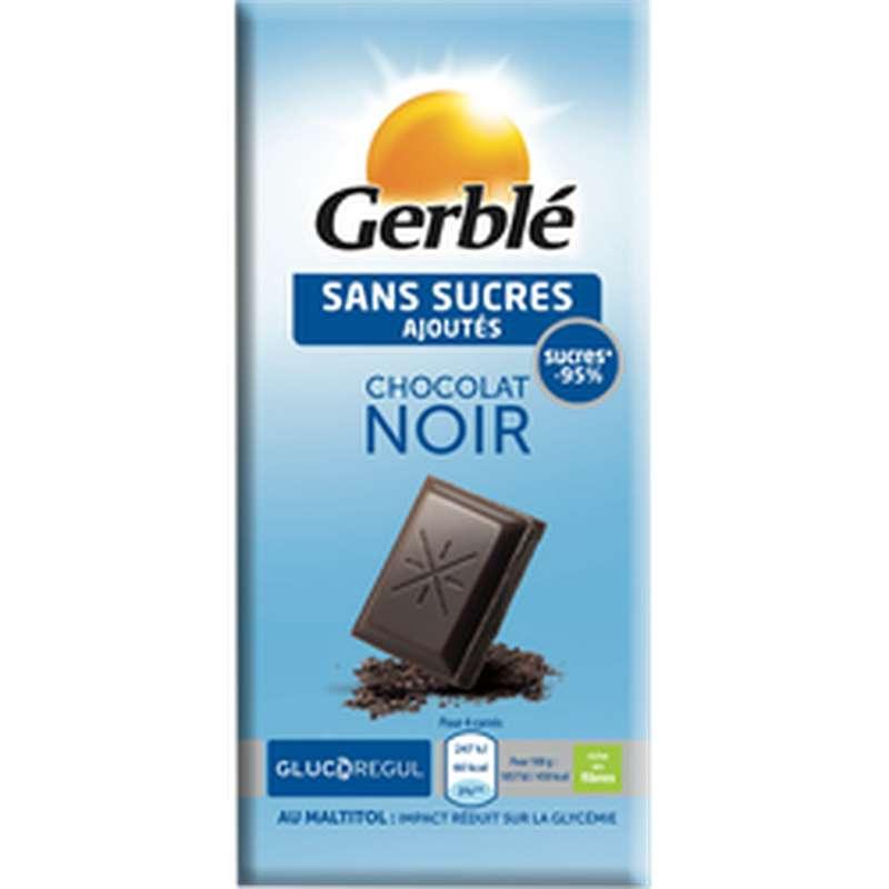 Tablette de chocolat noir glucorégul, Gerblé (80 g)