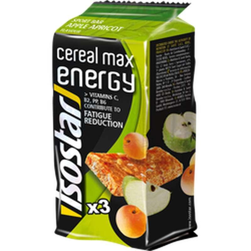 Barres de céréales Energie pomme abricot, Isostar (x 3, 165 g)