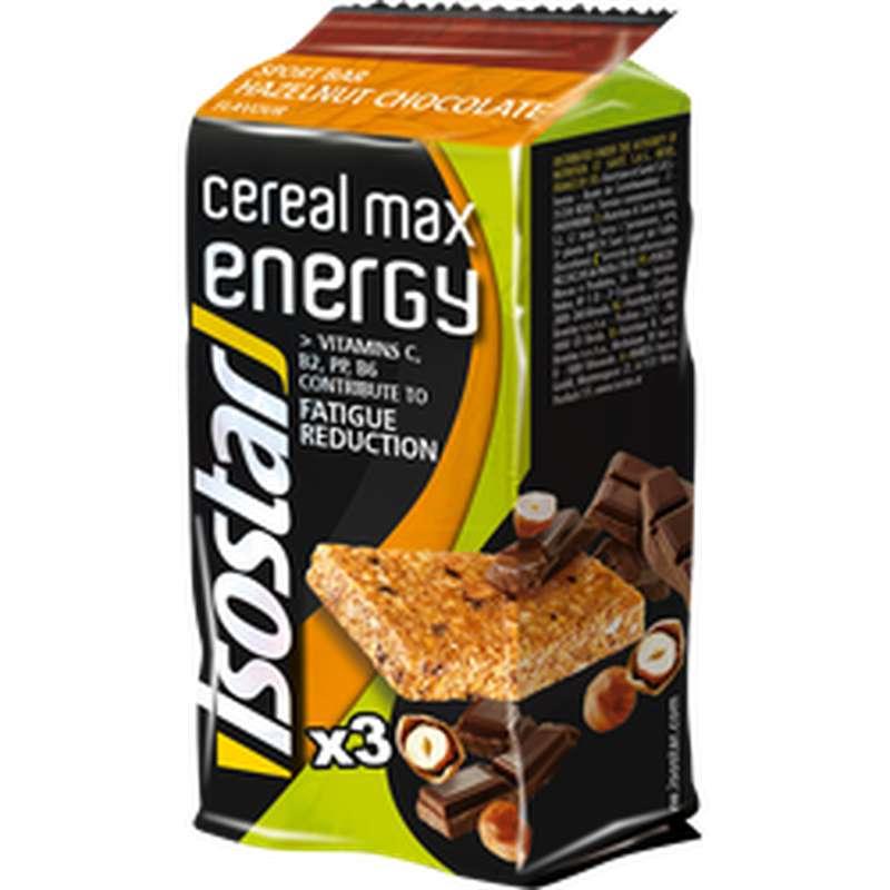 Barres de céréales Energie noisettes et chocolat, Isotar (x 3, 165 g)