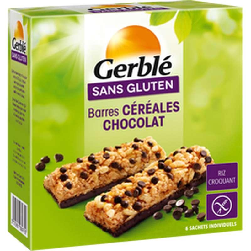 Barres de céréales au chocolat sans gluten, Gerblé (132 g)