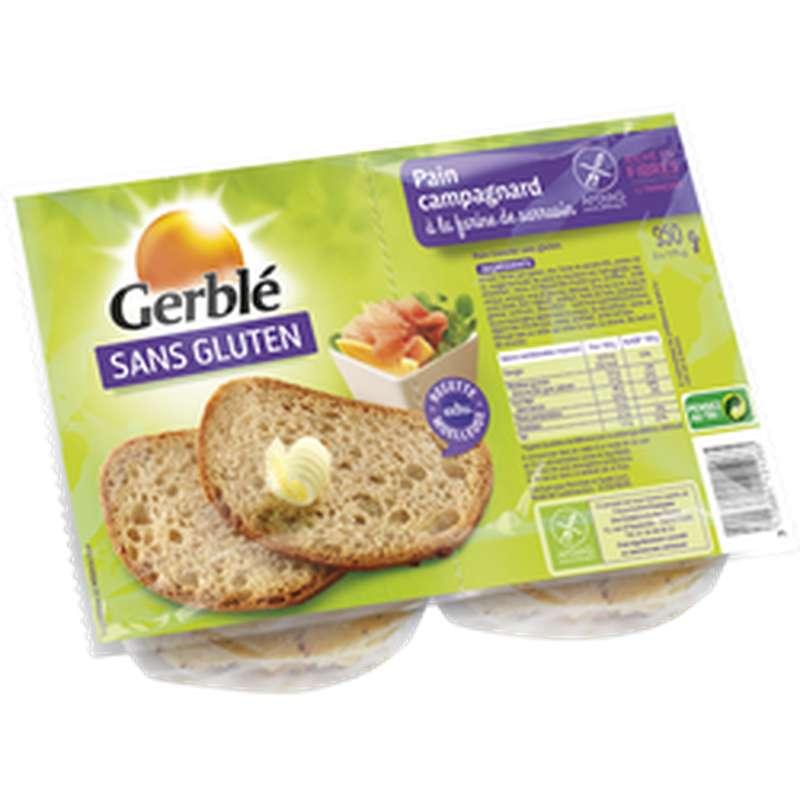 Pain campagnard sans gluten, Gerblé (350 g)