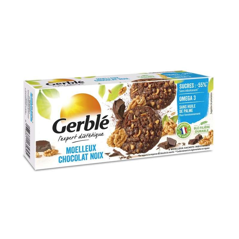 Biscuits moelleux aux noix et au chocolat, Gerblé (138 g)