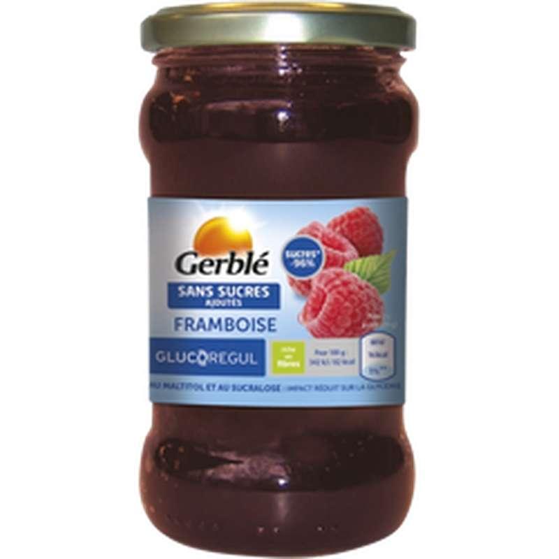 Confiture de framboise sans sucres ajoutés, Gerblé (320 g)