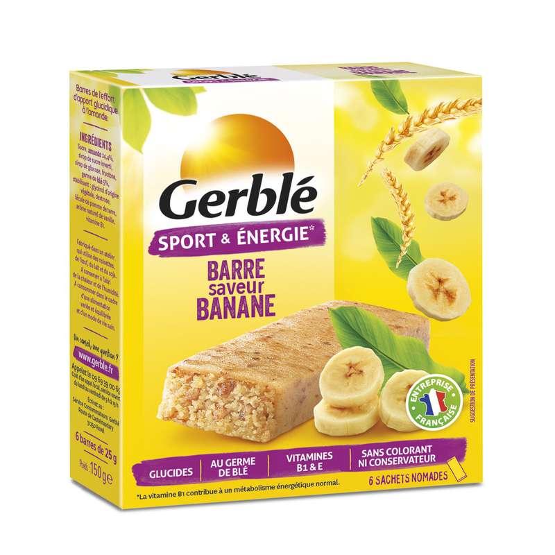 Barres sport banane, Gerblé (150 g)