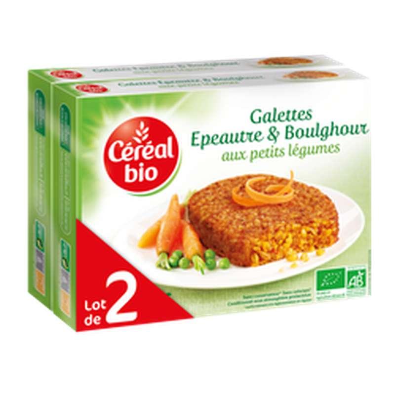 Galettes d'épeautre et boulghour aux petits légumes BIO, Céréal Bio LOT DE 2 (2 x 200 g)