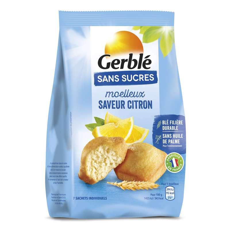 Gâteaux moelleux citron sans sucres, Gerblé (196 g)