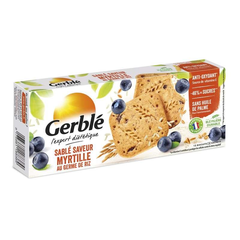 Biscuits sablé myrtille, Gerblé (140 g)