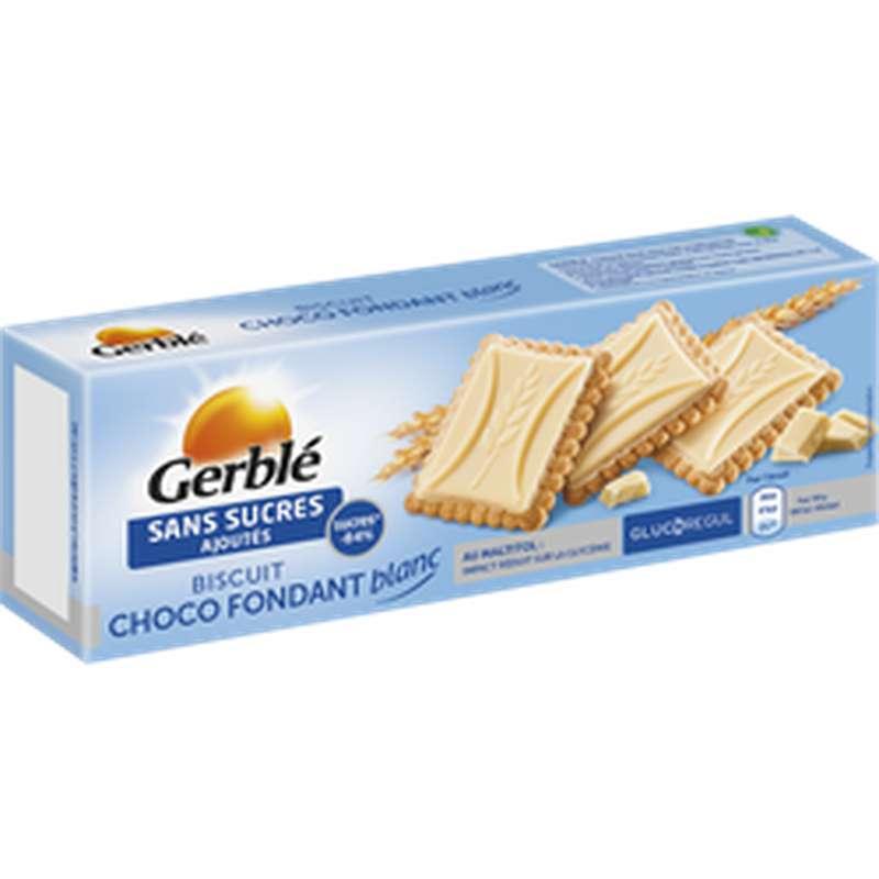 Biscuits au chocolat blanc fondant sans sucre ajouté, Gerblé (126 g)