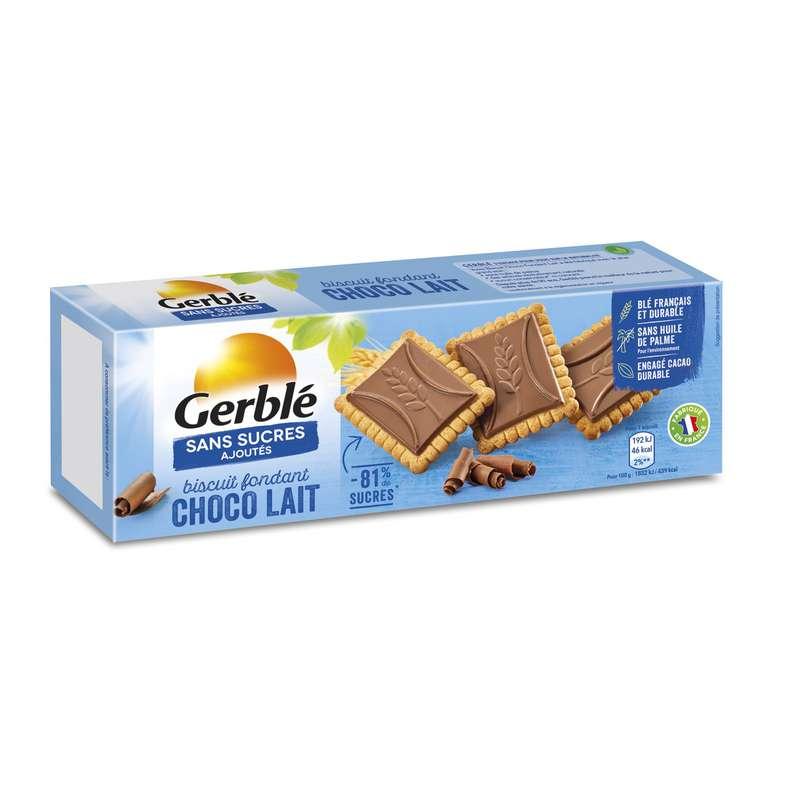 Biscuits chocolat lait sans sucres ajoutés, Gerblé (126 g)