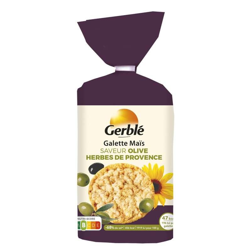 Galettes de maïs saveur olives herbes de provence, Gerblé (124 g)