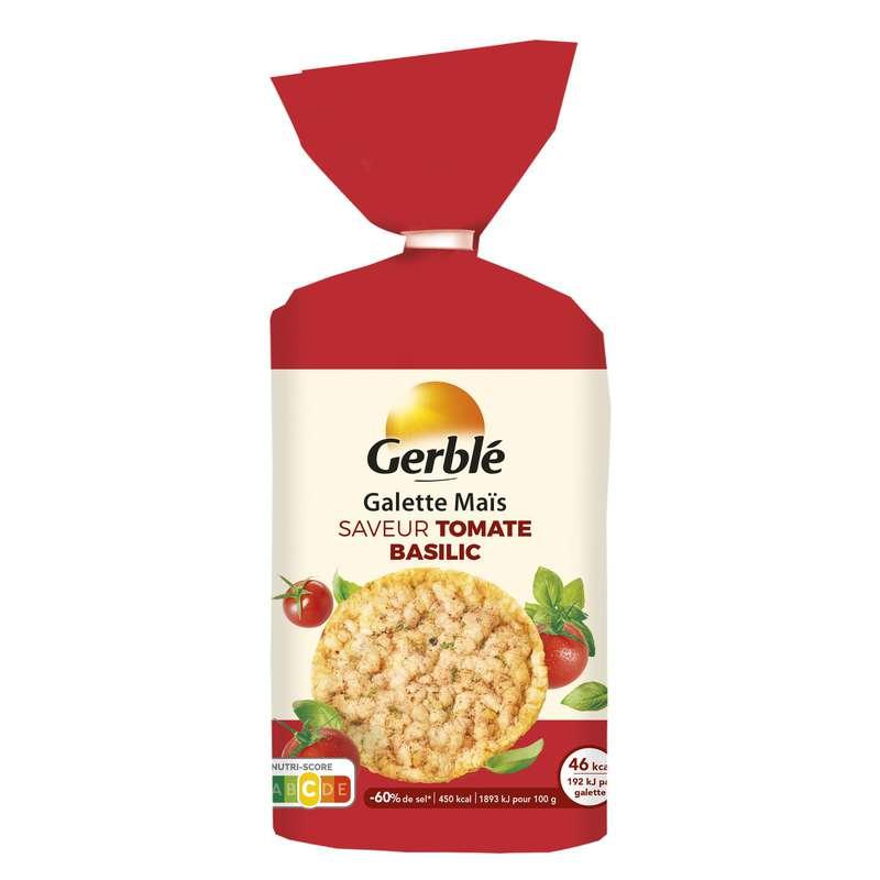 Galettes maïs riz saveur tomate basilic, Gerblé (124 g)
