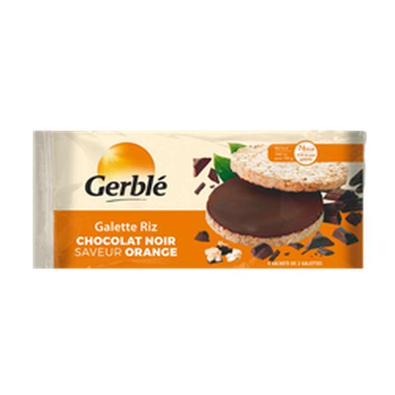 Galette de riz chocolat noir saveur orange, Gerblé (130 g)
