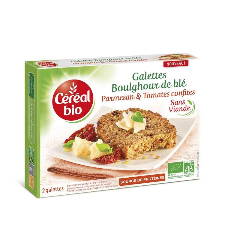 Galettes boulghour, tomates & parmesan BIO, Céréal Bio (200 g)