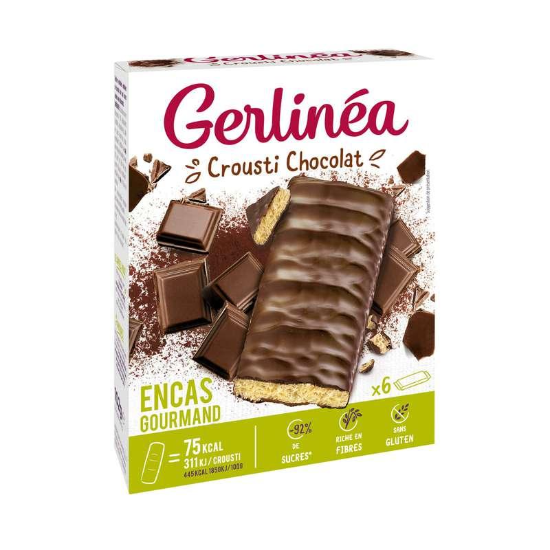 Barres crousti chocolat sans gluten, Gerlinea (102 g)