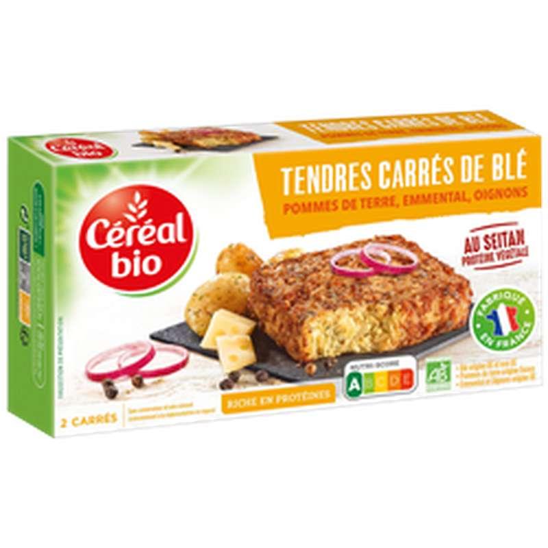 Tendres carrés de blé, pommes de terre oignons et emmental bio, Céréal Bio (200 g)