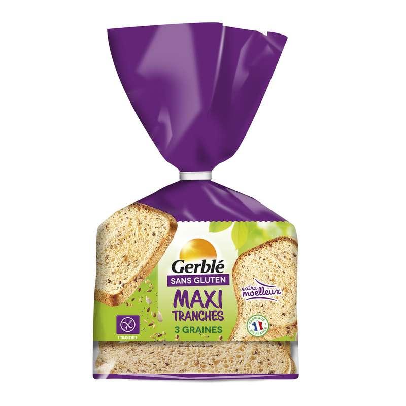 Pain moelleux 3 graines sans gluten, Gerblé (350 g)