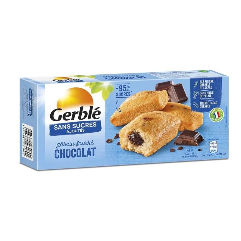 Gâteau fourré chocolat sans sucres ajoutés, Gerblé (150 g)