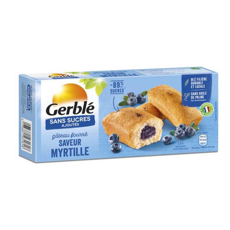 Gâteaux fourrés à la myrtille sans sucres ajoutés, Gerblé (150 g)