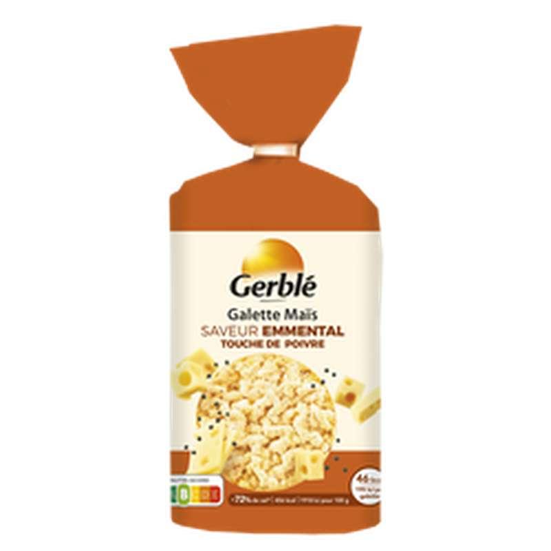 Galettes de maïs saveur emmental & poivre, Gerblé (123,5 g)