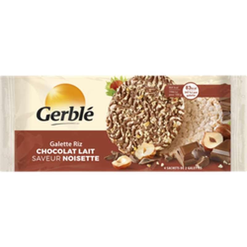 Galette de riz chocolat au lait et noisettes, Gerblé (142 g)