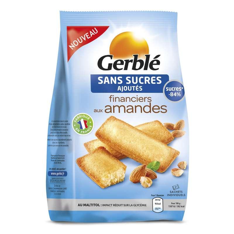 Financiers aux amandes sans sucres ajoutés, Gerblé (175 g)