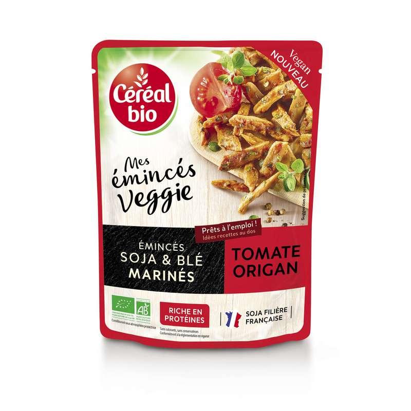 Plat cuisiné émincés de soja & blé marinés tomate origan veggie BIO, Céréal Bio (150 g)