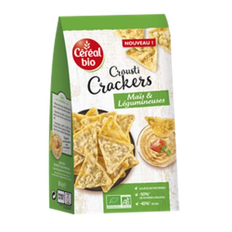 Crackers Veggie maïs et Légumineuses noir BIO, Céréal Bio (80 g)