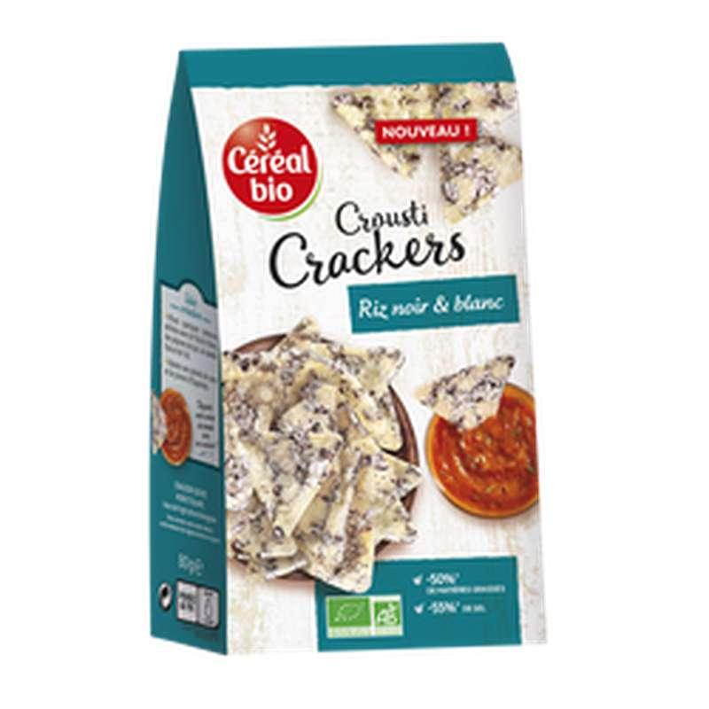 Crackers Veggie riz blanc & noir BIO, Céréal Bio (80 g)