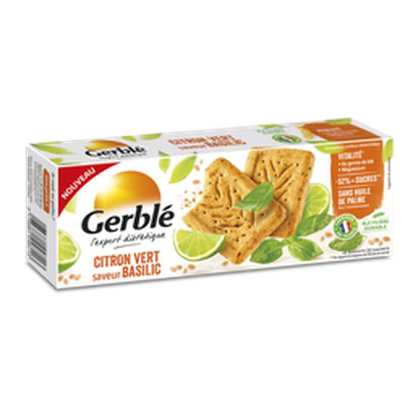 Sablés au citron vert et au basilic, Gerblé (200 g)