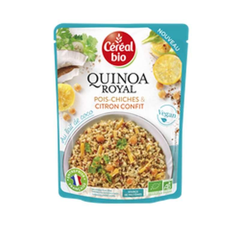 Quinoa royal au lait de coco, aux pois chiches et au citron confit BIO, Céréal Bio (220 g)