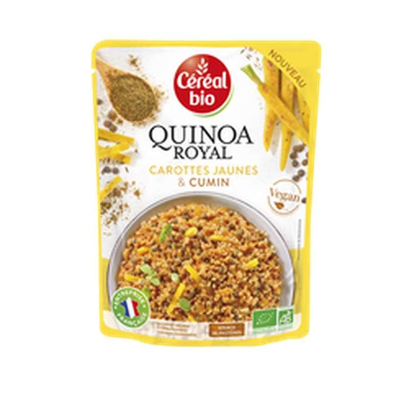 Quinoa Royal aux carottes jaunes et cumin, Céréal Bio (220 g)