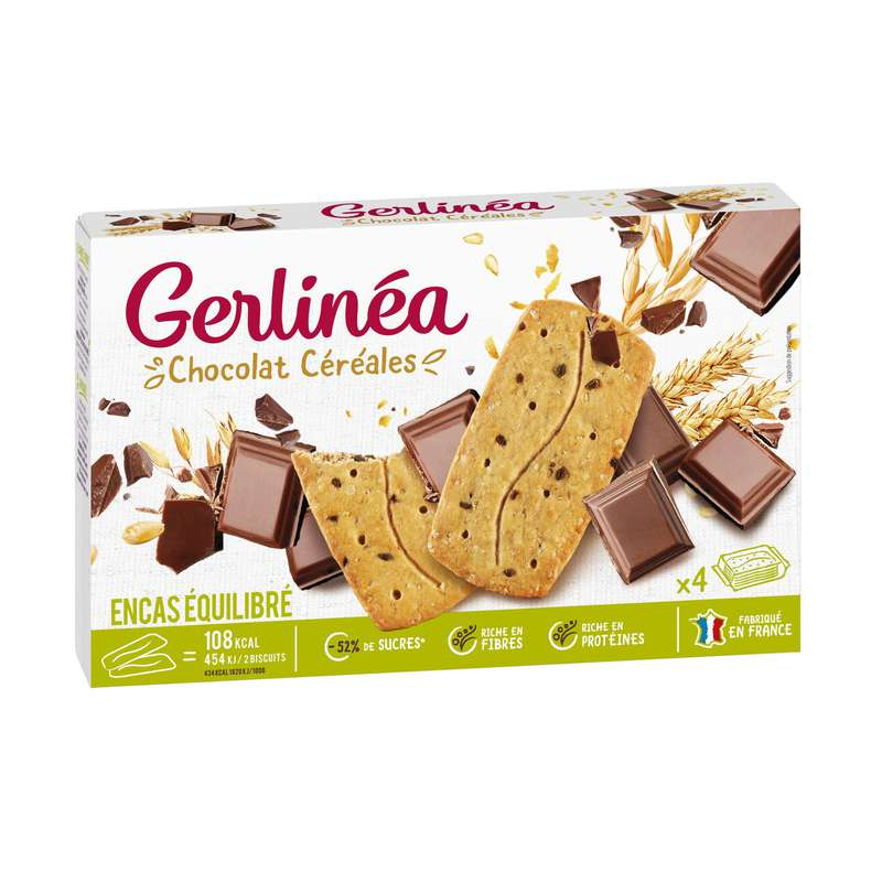 Biscuits chocolat céréales, Gerlinea (200 g)