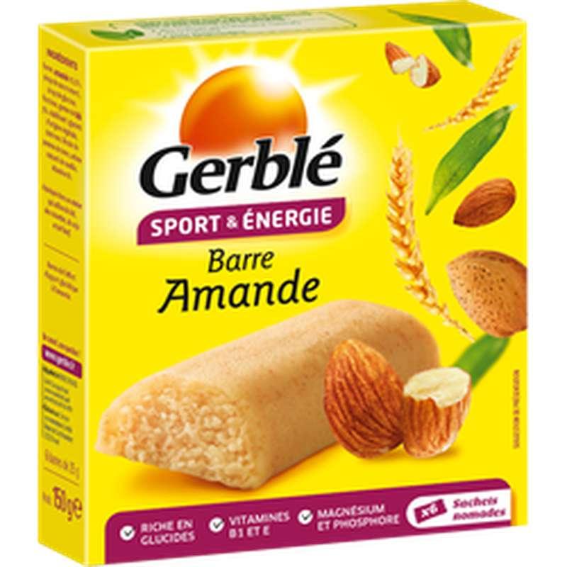 Barre sport & énergie aux amandes, Gerblé (150 g)