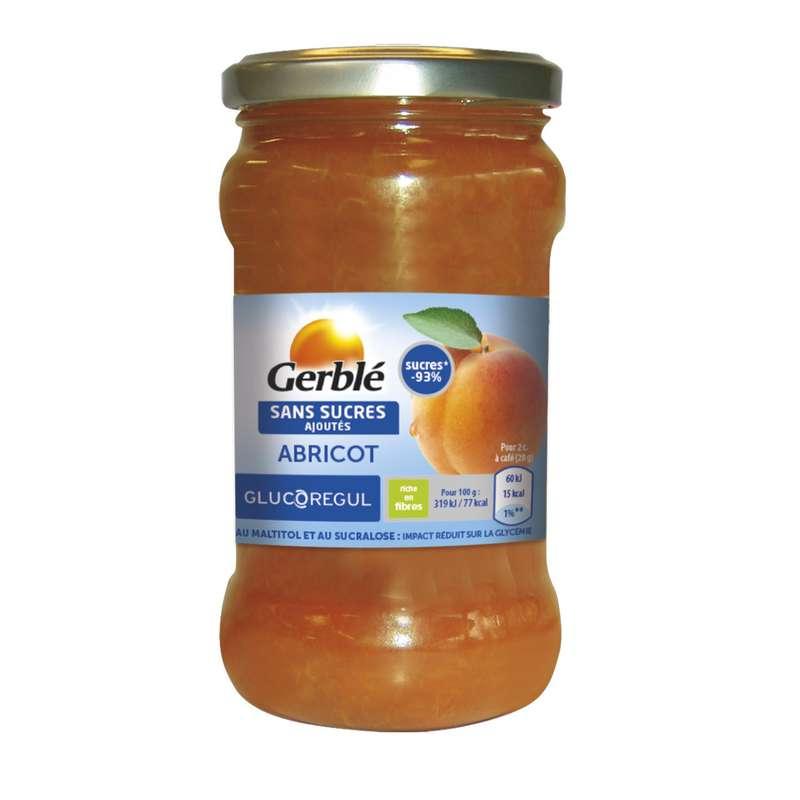 Confiture abricot sans sucres ajoutés, Gerblé (320 g)