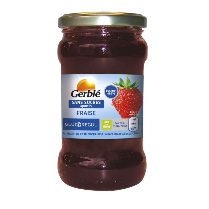 Confiture fraise sans sucres ajoutés, Gerblé (320 g)