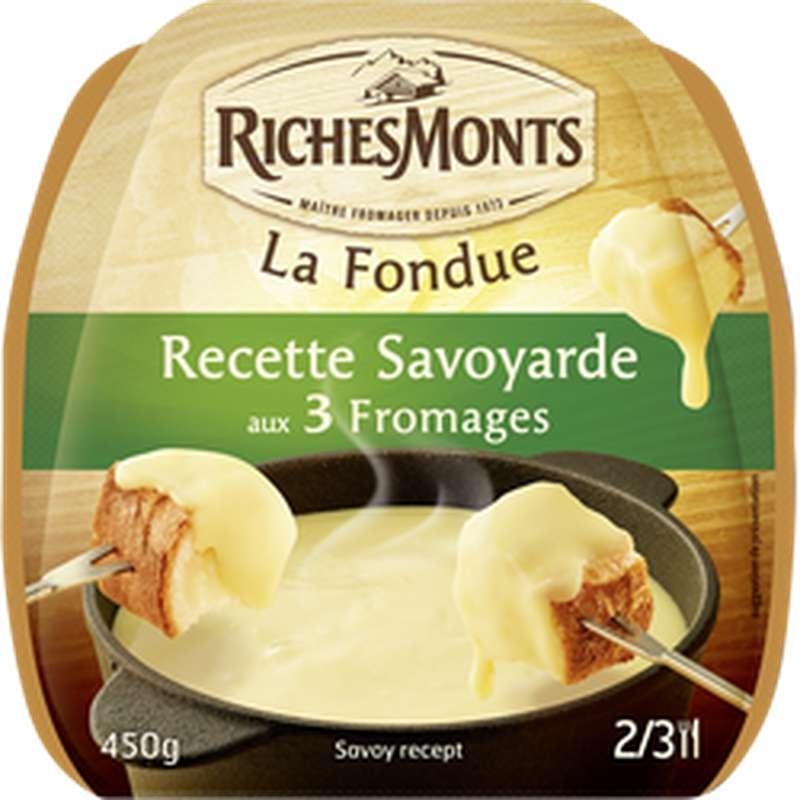 Fondue savoyarde aux 3 fromages 28% M.G, RichesMonts (450 g)
